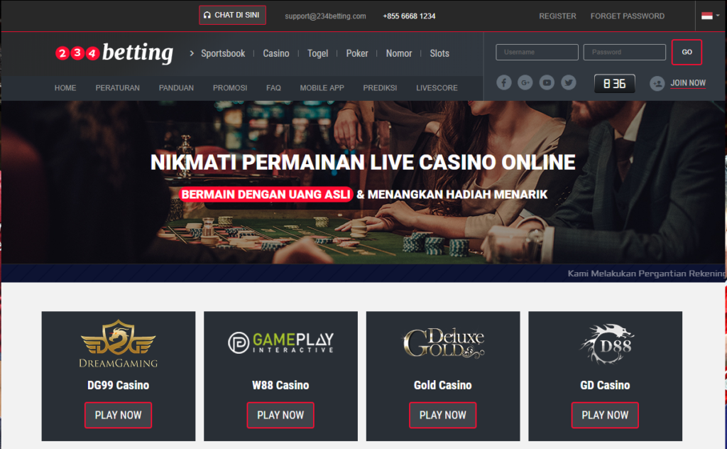 234Betting PolisiJudi Online Indonesia