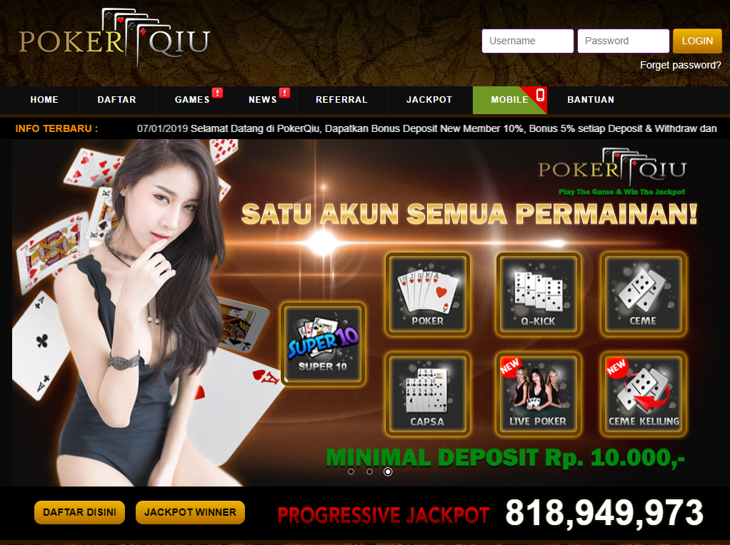 PokerQiu Polisi Judi Online Terpercaya Indonesia
